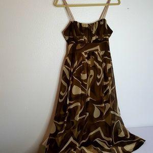 Jonathan Martin brown swirl evening dress 10